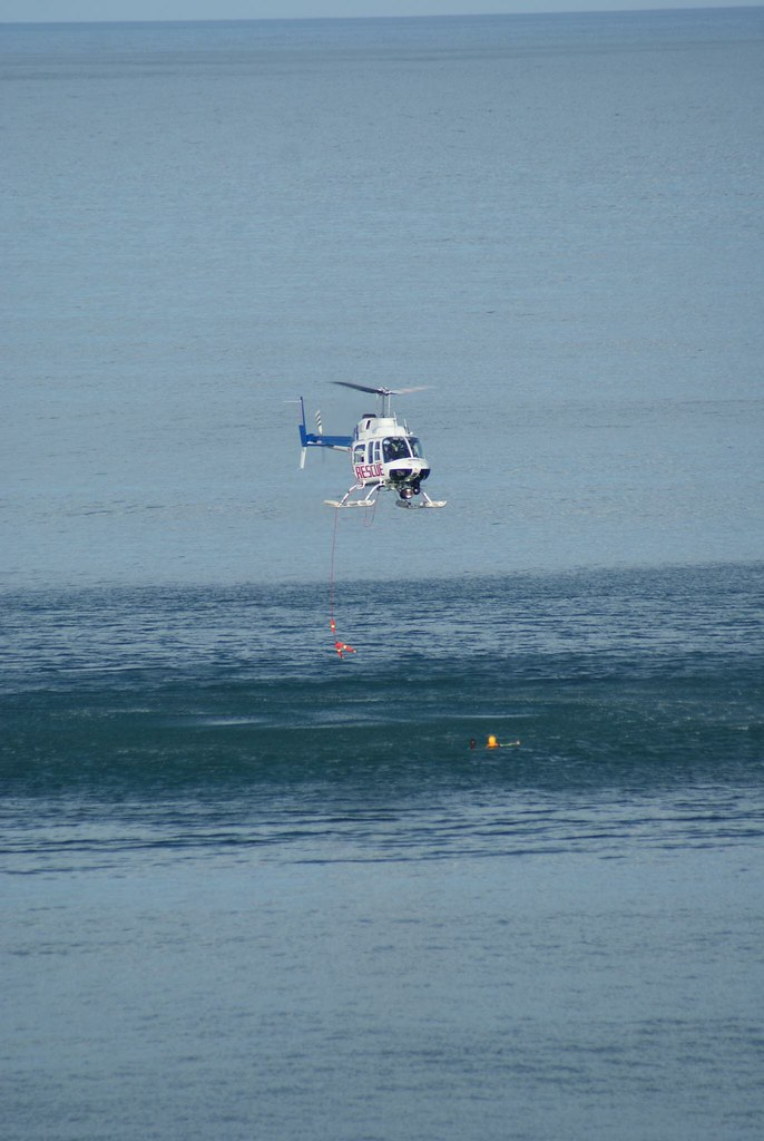 helicopter rescue at Lorne