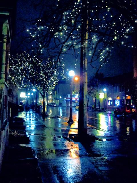 Rainy night on Church St.
