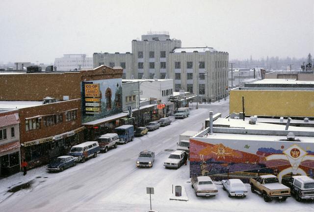 2nd Avenue, Fairbanks, Alaska, 1979.