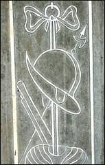helmet and musket