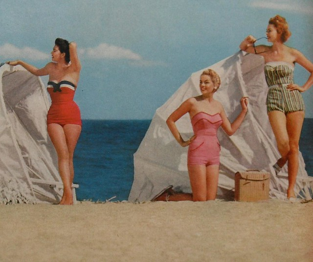12bb2e7628c ... 1950s women beach swimsuits fashion photo vintage 2 | by Christian  Montone