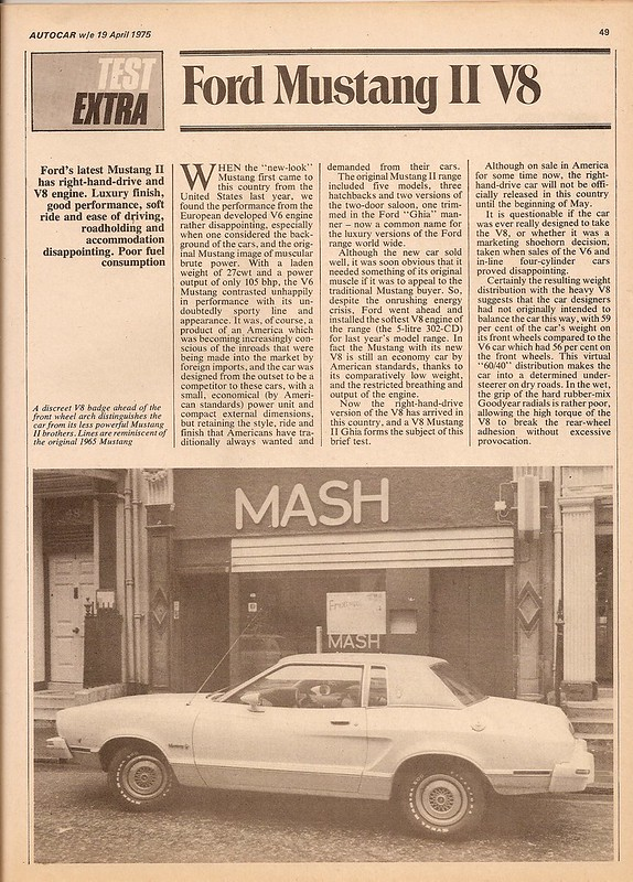 Ford Mustang II V8 302 Road Test 1975 (1)