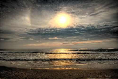 reflection beach clouds sunrise newjersey surf horizon shore hdr seasidepark omot
