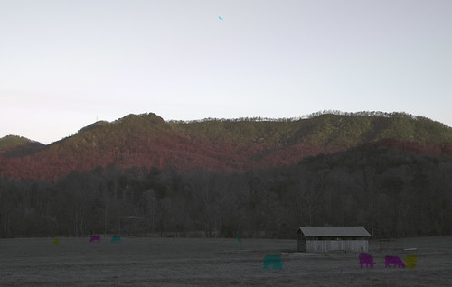 sky mountains field rural landscape farm shed northcarolina bucolic multitemporal