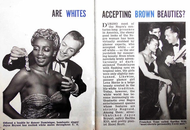 Are Whites Accepting Brown Beauties - Hue Magazine, July 28, 1954