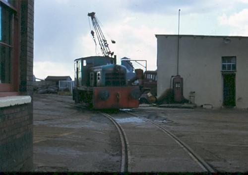 Fowler diesel shunter at Thos W Ward scrapyard, Silvertown, in 1974