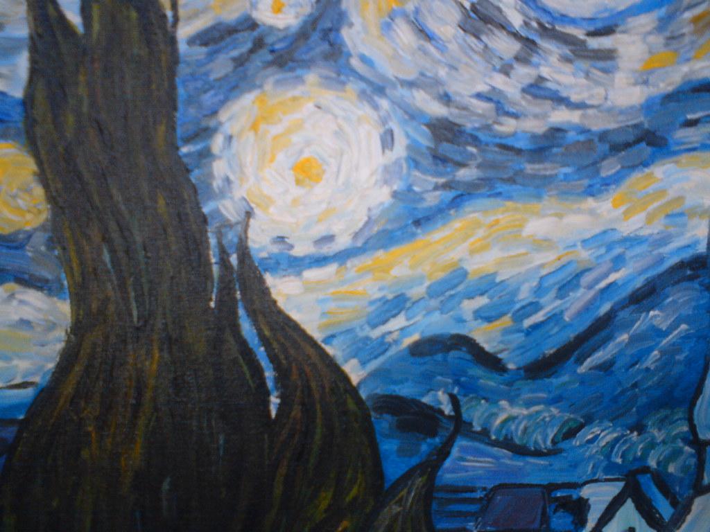 Noite Estrelada Van Gogh Copia Feita Por Almaques Goncal Flickr