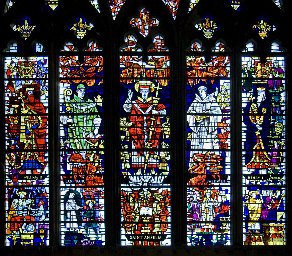 Canterbury Cathedral Stained Glass In Saint Anselms Chap