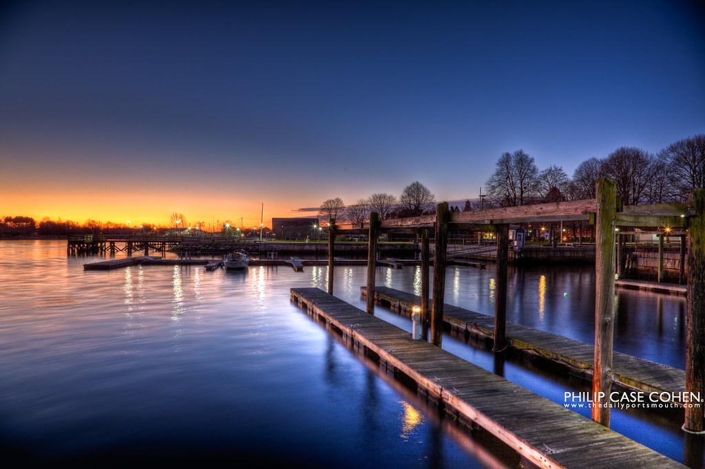 Public Docks at Prescott Park by Philip Case Cohen