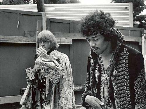 Brian Jones & Jimi Hendrix @ Monterey Pop Festival 1967 | by bp fallon