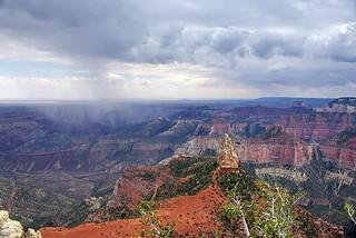 Mount Hayden & storm - Grand Canyon North Rim | by Al_HikesAZ