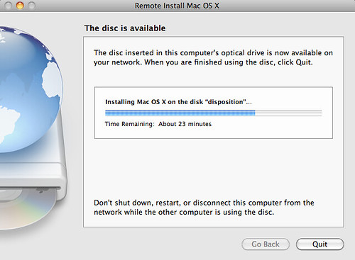 Remote Install of Snow Leopard | Mac OS X ships with a