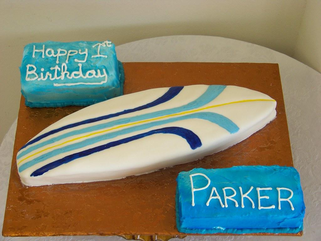 Wondrous Surfboard Birthday Cake Tc27Jkw Flickr Personalised Birthday Cards Petedlily Jamesorg