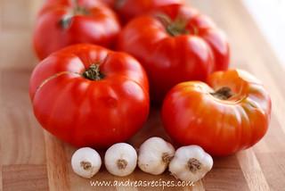 Homegrown Tomatoes and Garlic