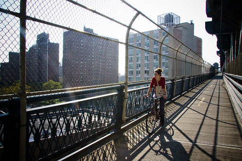 Manhattan Bridge Morning 2   by Mikael Colville-Andersen