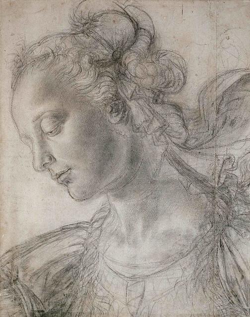 Andrea del Verrocchio: Study of an Ideal Female Head