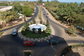 Banjul city from Arch 22   by violetblueiris