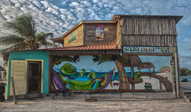 The Lazy Lizard, a meeting place on Caye Caulker