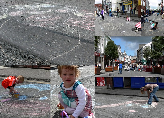 Drawing in the street
