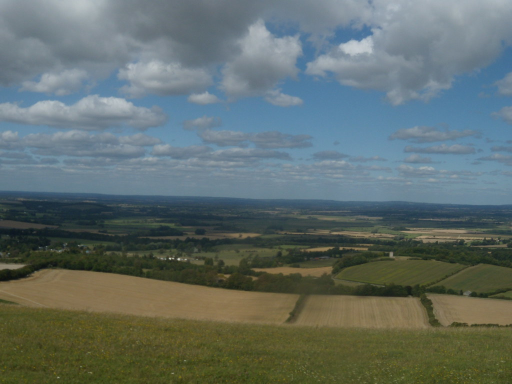 View down Glynde to Seaford