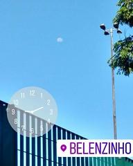 26° com sensação térmica de + de 30° e a lua continua lá fora...toda faceira