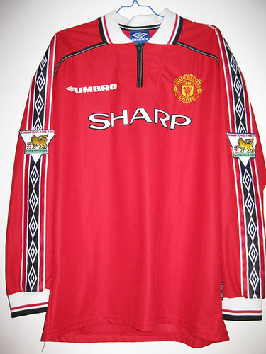 new style 49c6a ece20 MANCHESTER UNITED HOME 98/99 EPL BECKHAM 7# | Home shirt as ...