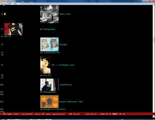 deviantart   deviant in emacs-w3m of win7   scheme yun   Flickr