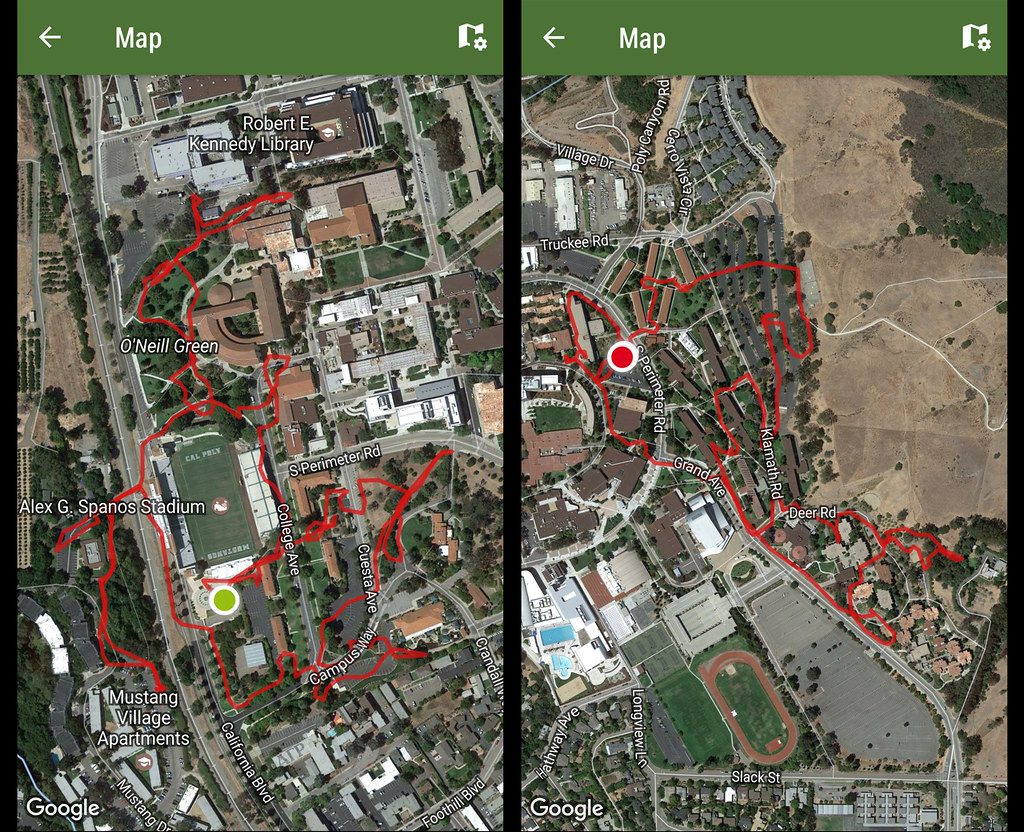 Cal Poly Slo Map on