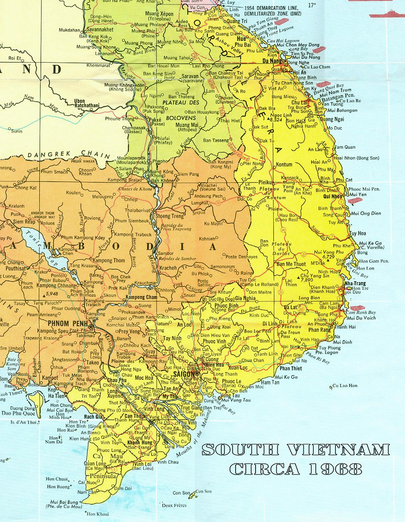 Map of South Vietnam circa 1968 | oldspooksandspies org/Refe… | Flickr