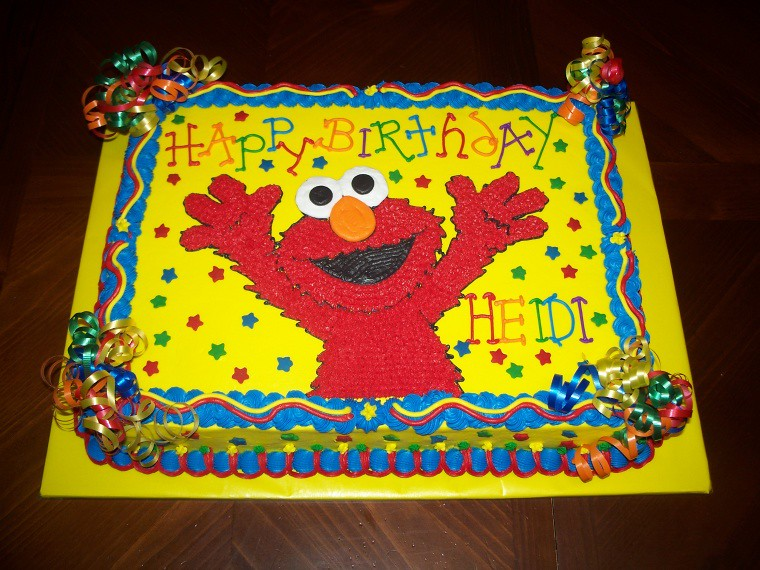 Fabulous Elmo Birthday Cake Jennifer Flickr Funny Birthday Cards Online Inifofree Goldxyz