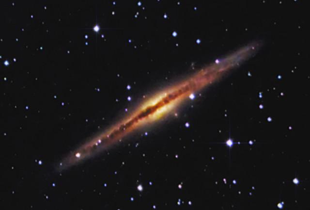 NGC891 Edge-On Galaxy   Taken at the Astronomy Society of Ka