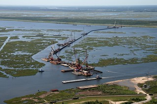 Inner Harbor Navigation Canal Surge Barrier Construction | by Team New Orleans, US Army Corps of Engineers