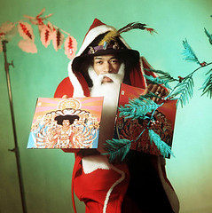 Jimi Hendrix as Father Christmas for the music paper Disc by Dezo Hoffman 1967 | by bp fallon