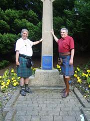 Visiting Hornshole Monument