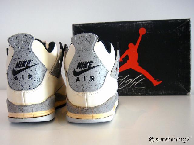 0bf09849c9ff97 ... Sunshining7 - Nike air Jordan IV (4) - OG 1989 - White Cement Grey