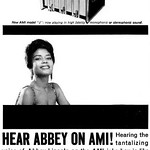 Abbey Lincoln for AMI Jukeboxes Advertisement - Ebony Magazine, December, 1959