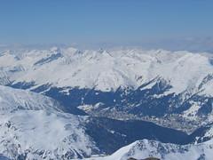 Letecký pohled na Davos
