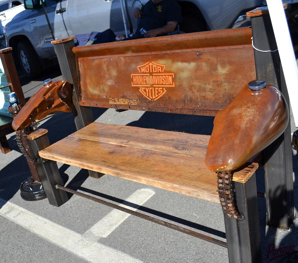 Groovy Custom Harley Davidson Tailgate Bench Pomona Swapmeet Flickr Uwap Interior Chair Design Uwaporg