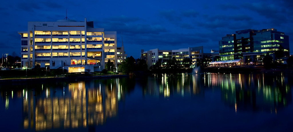 Business park reflections. (1) by dicktay2000