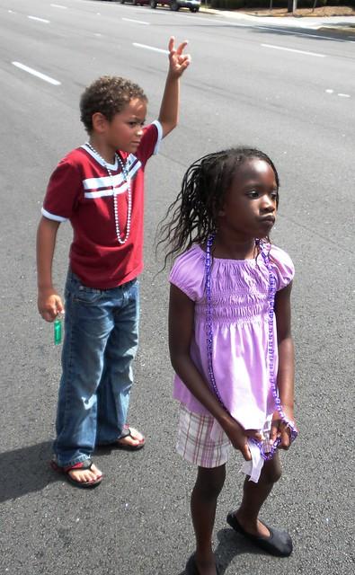 kids at the parade
