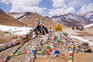 DSC12003 - Tibetan Prayer Flags on Lachulung Pass - Manali to Leh road (India)   by loupiote (Old Skool) pro