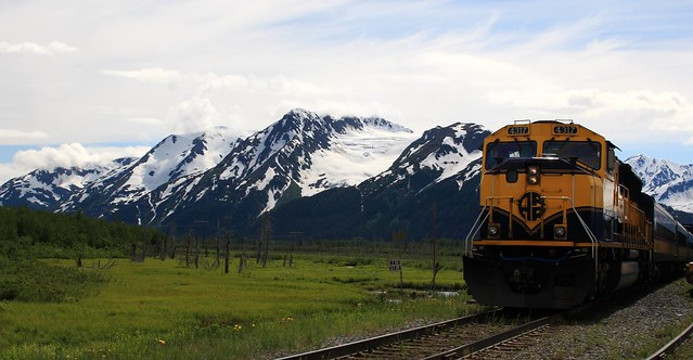 Our Alaska Railroad train to Spencer Glacier