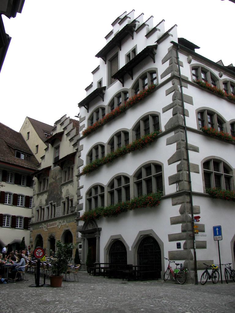 Zuger Rathaus in der Stadt Zug im Kanton Zug in der Schwei ...