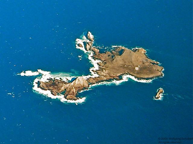 Farallon wilderness in the blue seas