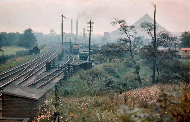 Coal Mine West Bromwich, showing railway sidings and wagons
