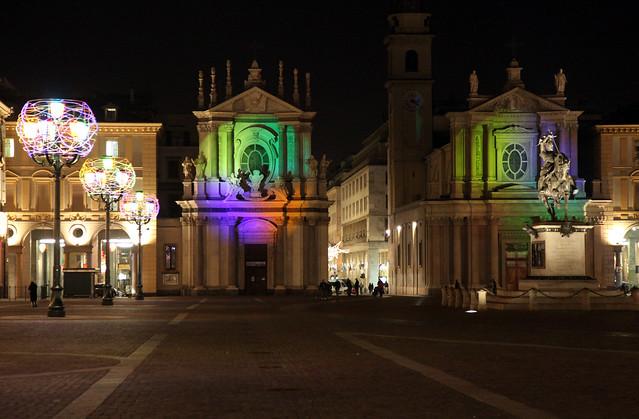 Piazza S.Carlo Torino - Luci d'Artista