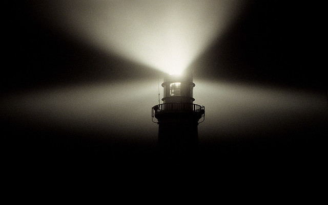 Sea Mist, Galley head lighthouse, West Cork, Ireland.