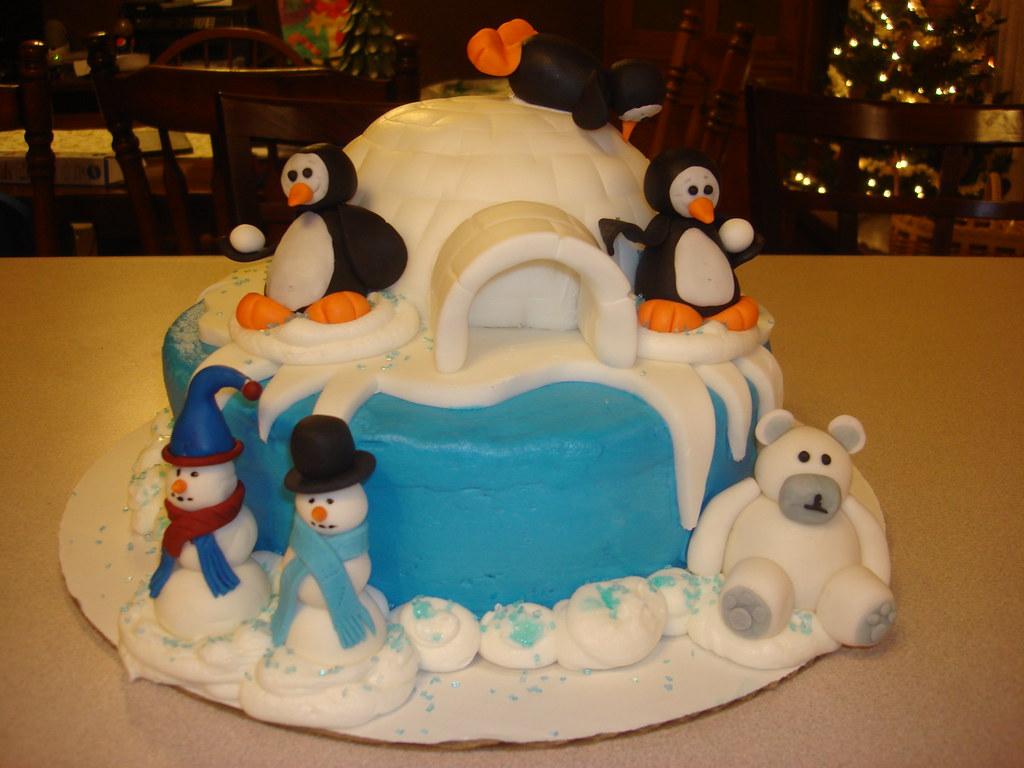Miraculous Penguin Birthday Cake Amy Johnson Flickr Funny Birthday Cards Online Alyptdamsfinfo