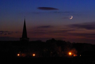St Nicholas Church, Trellech and a New Moon