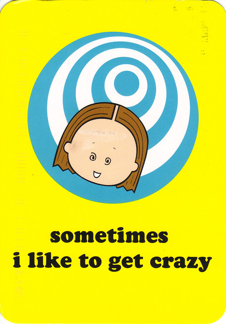 Angry Little Girls Crazy Postcard